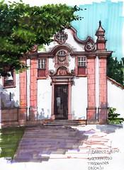 Igreja do Rosrio (AdrianoMello) Tags: sketch minas gerais tiradentes draw markers adriano desenho sketchphoto cidadehistrica igrejadorosrio hidrocor largodo