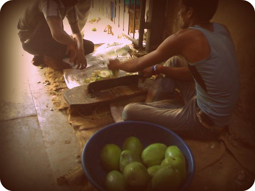 Mango pickle prep