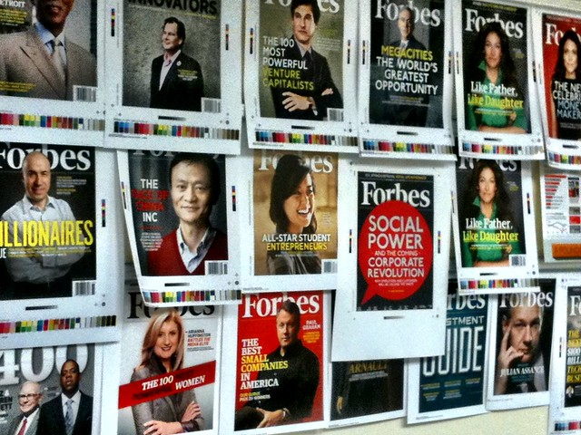 Hanging out with a bunch Forbes covers
