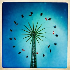 Chilbi (victor*f) Tags: sunset evening zurich fair bluehour kirmes iphone chilbi knabenschiessen iphoneography hipstamatic