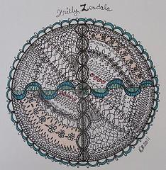 Frilly Zendala (craftydr) Tags: zentangle zendoodle zendala