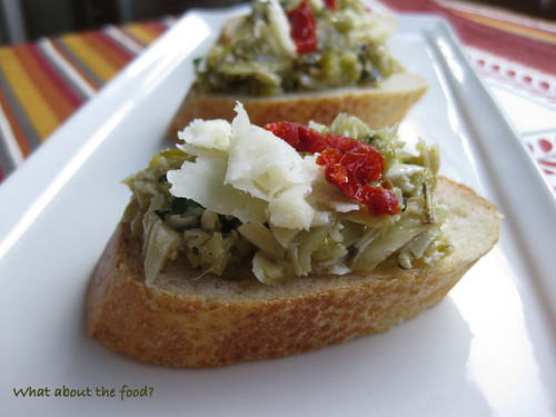 Artichoke Heart and Olive Crostini