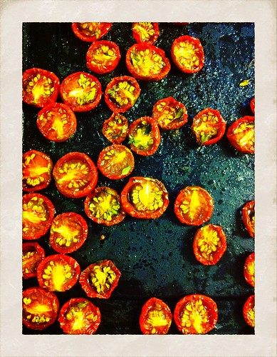 Slow roasted local cherry tomatoes