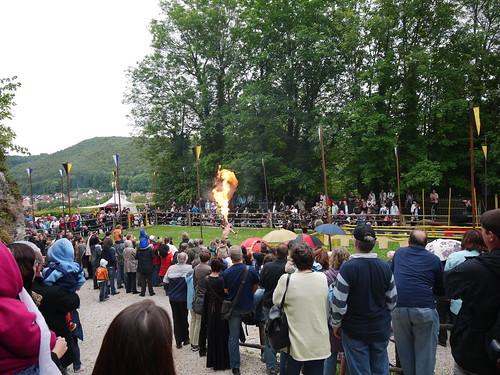 Medieval festival at Burg Pappenheim