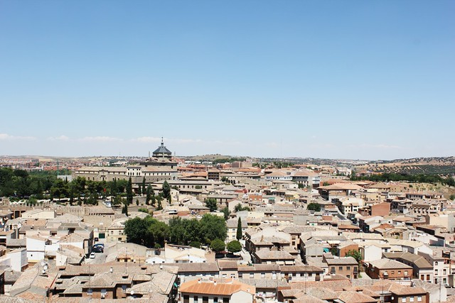 city of toledo from the old town above