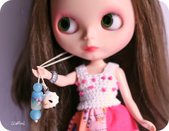 Lily showing off her new pullrings :)