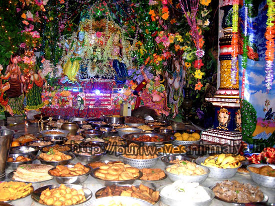 100 types of Pitha Bhog at Radhe Shyam Matha