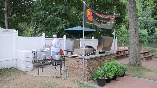 BBQ grilling station