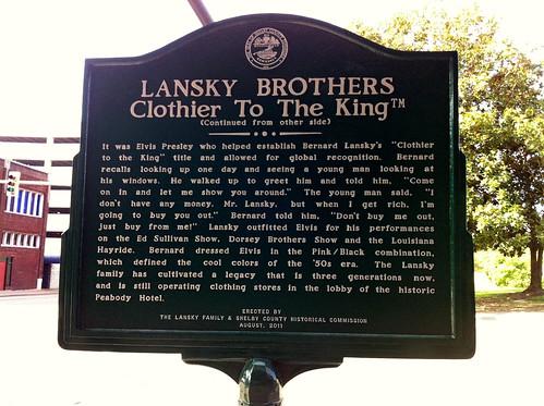 Lansky Bros. Historical Marker