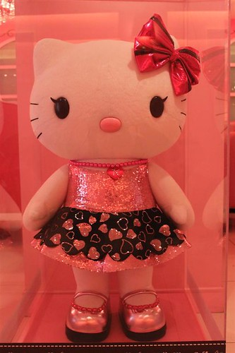 The Giant Hello Kitty doll in Hello Kitty Cafe in Seoul South Korea