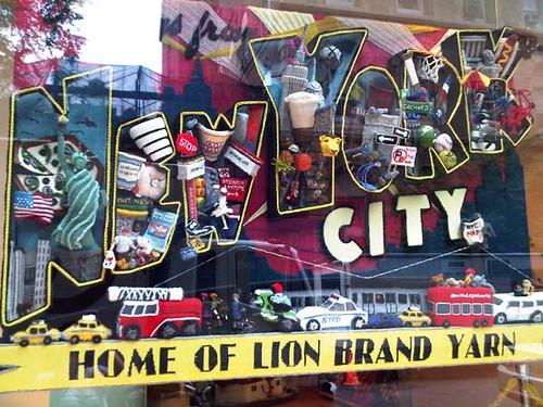 Lion Brand Studio Store Window