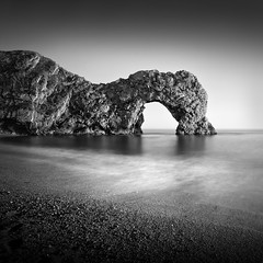 Durdle Door, Dorset (Weeman76) Tags: uk longexposure sea bw seascape monochrome landscape mono nikon le dorset southcoast durdledoor d90 sigma1020mmf456exdchsm nd110 niksoftsilverefexpro2