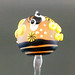 Single Bead : Bee Orange Honey Focal Pendant