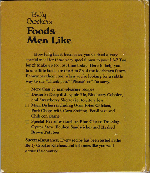 Foods Men Like Back Cover