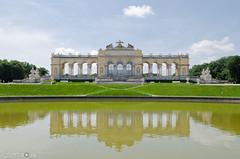 The Gloriette (andreaskoeberl) Tags: schönbrunn vienna park reflection building green architecture austria nikon gloriette 1685 d7000 nikon1685 nikond7000 andreaskoeberl