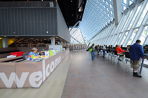Seattle Central Library - Front Desk