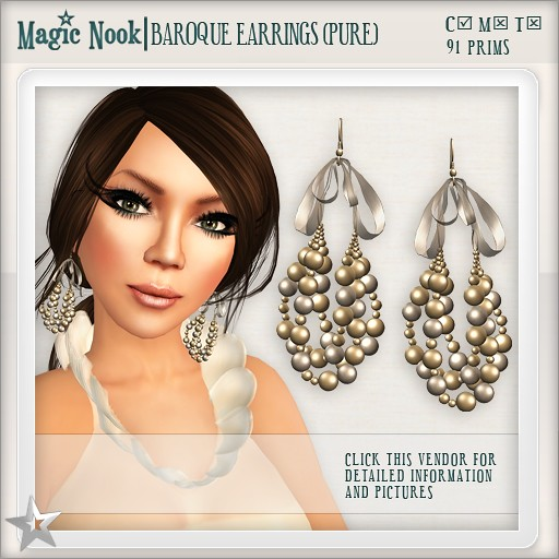 [MAGIC NOOK] Baroque Earrings (Pure)