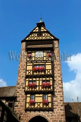40073390 (wolfgangkaehler) Tags: france french town europe european streetscene medieval alsace alsatian winecountry halftimbered wineregion riquewihr citygate halftimberedhouse towngate medievalarchitecture medievaltown europeanarchitecture medievalvillage alsacefrance halftimberedhouses alsaceregion