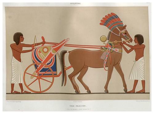 001-Carro principesco- Tell-El-Amarna dinastia XVIII-Histoire de l'art égyptien 1878- Achille Constant Théodore Émile