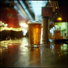 (Ansel Olson) Tags: new light shadow 120 6x6 mamiya tlr film beer glass metal bar mediumformat reflections golden virginia dof kodak bokeh richmond taps delicious commercial va 400 refreshing portra delightful taphouse mouthwatering c330 pushedto1600 c330s autaut mamiyasekor55mmf45