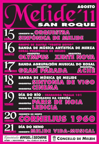 Melide 2011 - Festas de San Roque - cartel