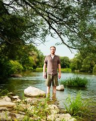 Felt like standing in a river (owencherry) Tags: selfportrait ontario waterloo cls strobist kwstrobist