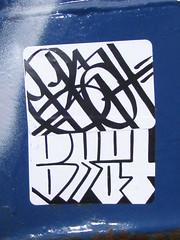 BKAT (]L ][ /A\ ]M[) Tags: graffiti sticker glue illegal slap