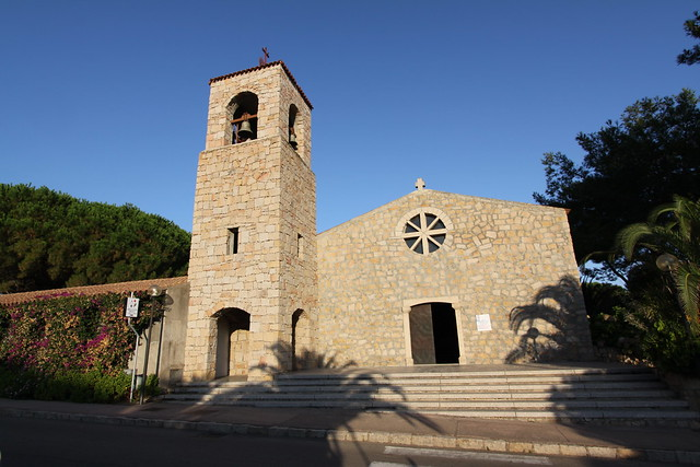 Village church in Baia Sardinia...