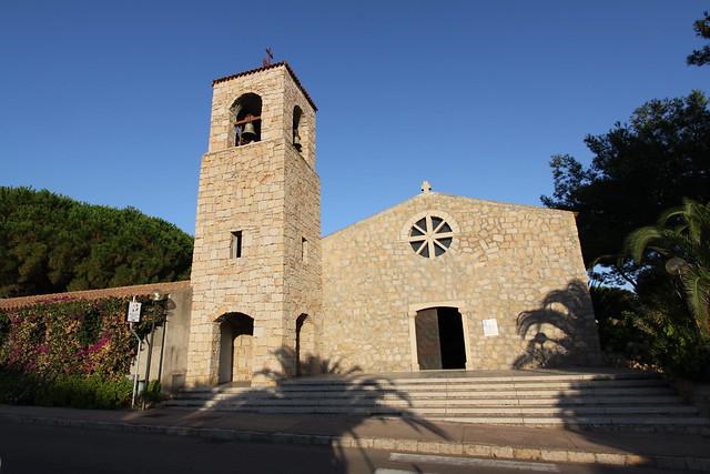 Village church in Baia Sardinia...