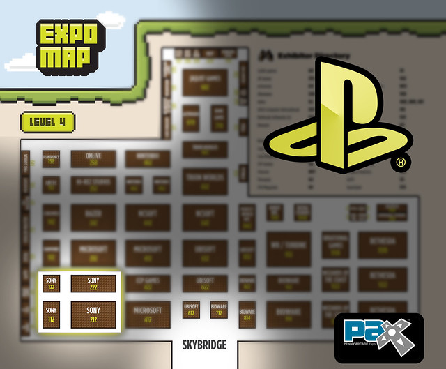 PAX 2011: PlayStation Booth Map