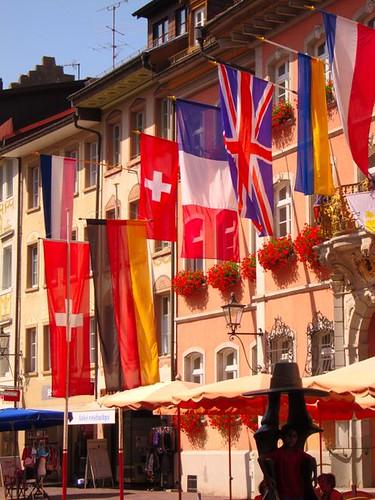 germany waldshut tiengen flags building by Danalynn C