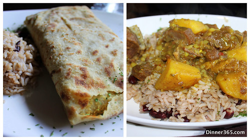 Day 235 - Curried Shrimp Roti and Curried Goat @Jambalaya