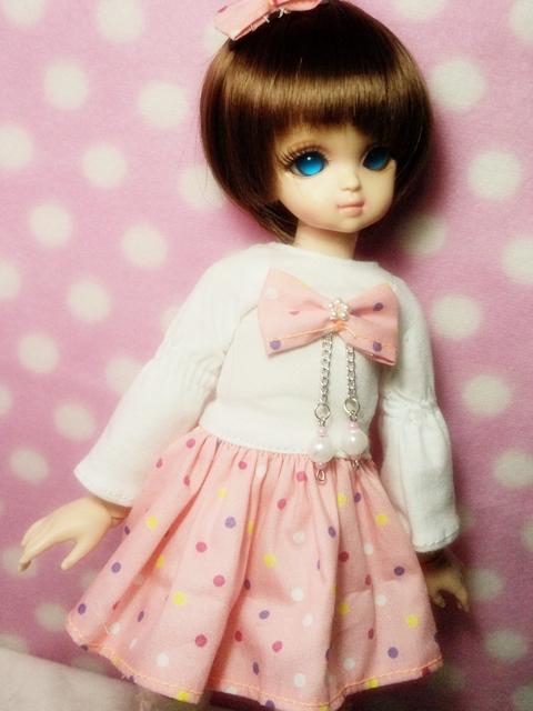 in barbie dress