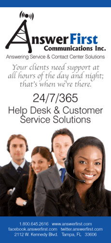 AnswerFirst Help Desk Administration Rack Card Artwork (Front) by AnswerFirst