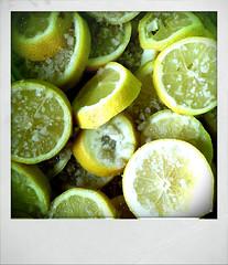 Préparation des citrons confits