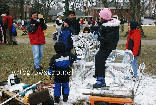 Rocking Horse Photo Op 2 ice sculpture