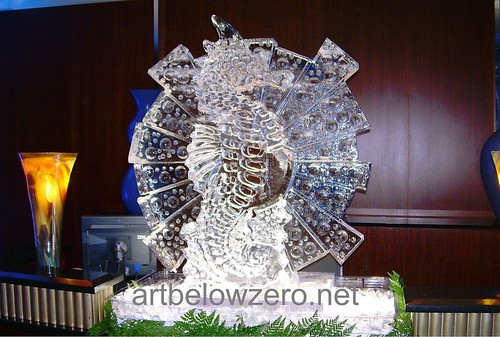 Seahorse Dimension ice sculpture