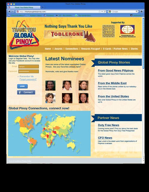 Thank You Global Pinoy Home Page