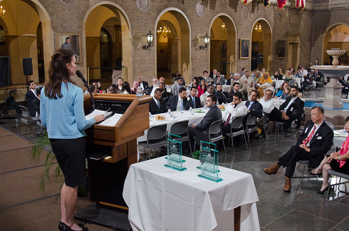 More than 200 employees and community members gathered at USDA headquarters to mark the department's 3rd annual Iftar dinner.  The theme of the evening was food safety, and Under Secretary for Food Safety, Dr. Elisabeth Hagen, provided keynote remarks.