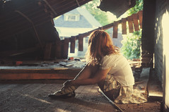 (yyellowbird) Tags: building abandoned girl illinois warehouse cairo cari