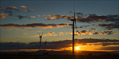 waubra-6331-ps-w (pw-pix) Tags: blue sunset sky orange cloud sun clouds landscape grey power cloudy towers australia windmills victoria hills windfarm ballarat windpower lateafternoon settingsun windturbines baldhills powergeneration centralvictoria acciona waubra nearballarat waubrawindfarm