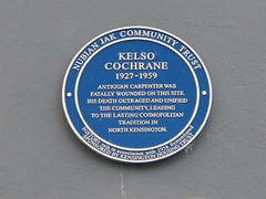 Photo of Kelso Cochrane blue plaque