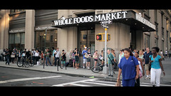 Whole foods (Dj Poe) Tags: street new york city nyc cinema canon photography eos foods dj market mark candid hurricane whole ii 5d irene cinematic poe 2011 435 5dmkii 5dmk2 zeissdistagont1