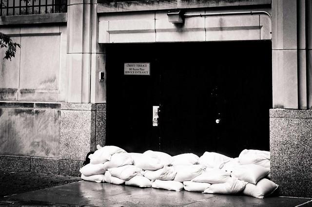 Hurricane Irene: Sandbags