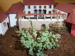 Modello della Cascina Cantalupo realizzato dagli allievi di una classe della Scuola secondaria di I grado di Ardenno (Sondrio), in base alle descrizioni tratte dai documenti ottocenteschi (anno scolastico 2007-08).