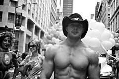 pride6 (verphotoman) Tags: gay blackandwhite bw man cowboy pride stud nycpride