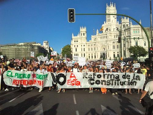 Manifestacion contra la reforma de la Constitucion en Madrid