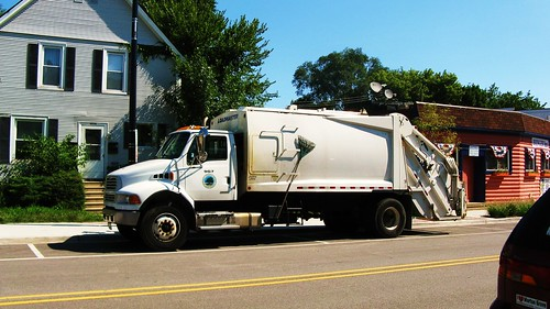 A Cook County Forest Preserve District Sterling garbage truck. Morton Grove Illinois USA. August 2011. by Eddie from Chicago