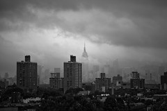 Empire Vs Irene (tyfihi) Tags: nyc newyorkcity storm building skyline hurricane empirestate irene