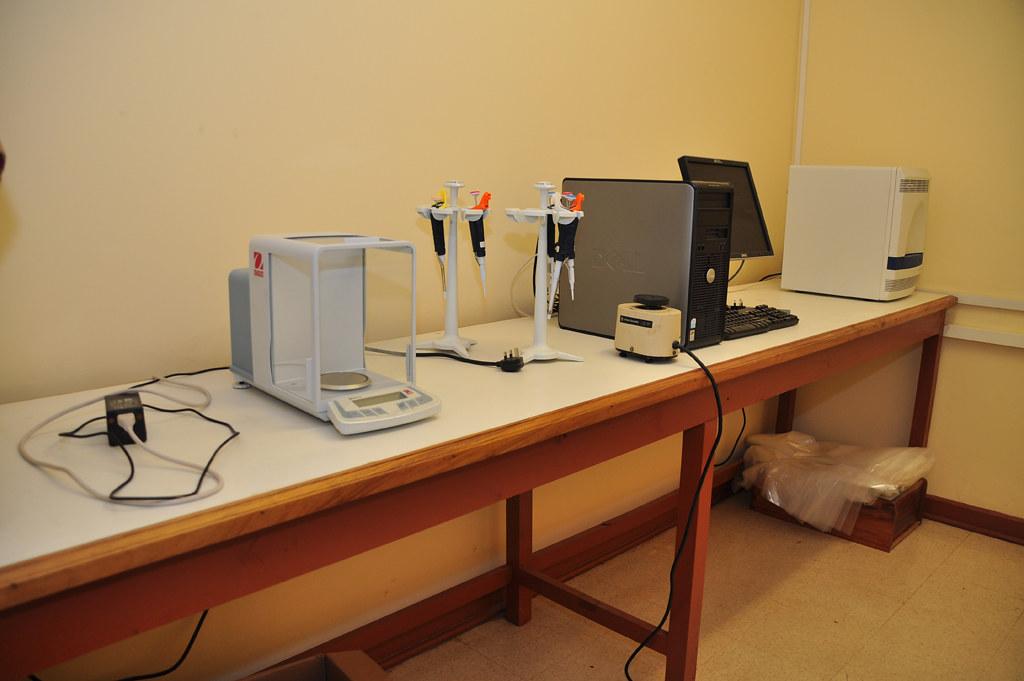Laboratory equipment at Bioscience Center